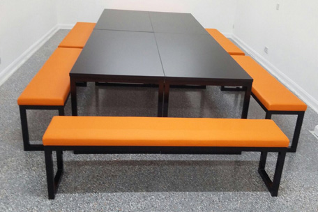 Urban Table and Bench in Flexible arrangement.JPG